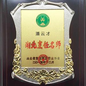 潘云才湖北烹饪名师奖牌