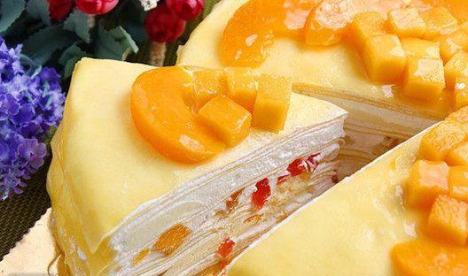 芒果西点蛋糕,教你不用烤炉做蛋糕